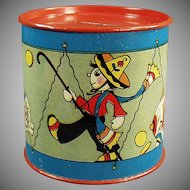 Vintage Tin Bank - Old Tin with Cute Graphics by Fern Bisel Peat