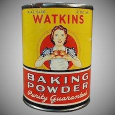 Vintage Baking Powder Tin - Old J.R. Watkins Sample Tin