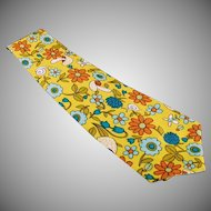 Man's Vintage Necktie - Custom Made Wide Tie - Bright and Colorful