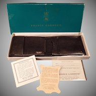 Vintage Prince Gardner Black Leather Wallet Billfold - Original Gift Box – 1960's