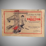 Vintage 1934 A.C. Gilbert How to Make 'Em Erector Set Manual