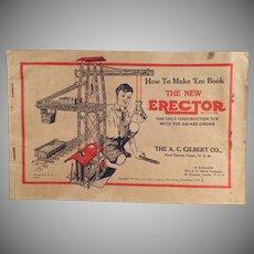 Vintage 1934 A.C. Gilbert How to Make 'Em Erector Set Manual