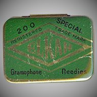Vintage Phonograph Needle Tin - Empty Old Elkah Gramophone Needles