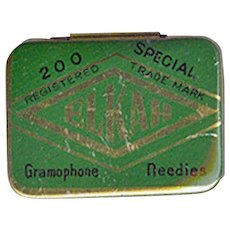 Vintage Phonograph Needle Tin - Empty Old Elkah Gramophone Needles