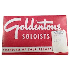 Vintage Steel Phonograph Needles - Goldentone Soloists - Package of 50 Old Needles