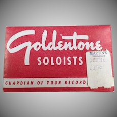 Vintage Steel Phonograph Needles - Goldentone Soloists - Package of 50 Old Needles