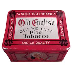 Vintage Tobacco Tin -  Nice Old English Curve Cut Pipe Tobacco Tin