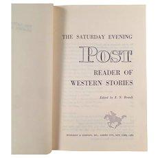 Vintage Hardbound Book - The Saturday Evening Post Reader of Western Stories