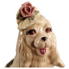 Vintage Dog Figurine -  Old Cordelia China - Fashionable Cocker Spaniel Dog
