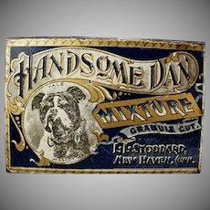 Vintage Tobacco Tin - Handsome Dan Yale Mascot Bulldog - L.L. Stoddard