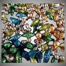 Vintage Glass Christmas Beads - Unstrung Christmas Tree Beads - Over Assorted 150 Beads