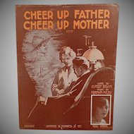 Vintage Sheet Music - Cheer Up Father Cheer Up Mother - WWI War Song