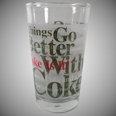 Vintage Coca-Cola Glass - Things Go Better With Coke - 3 Available