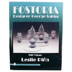 Old Reference Book - Fostoria Designer George Sakier - 1996 Hardback Edition