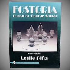 Old Reference Book - Fostoria Designer George Sakier - 1996 Hardback Edition