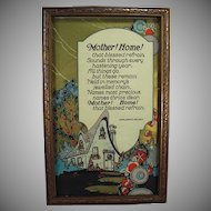 Framed Vintage Motto Print - Mother! Home! by John Jarvis Holden - Very Pretty Graphics