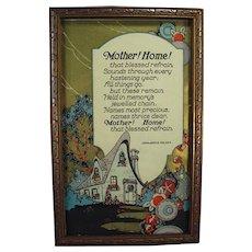 Framed Vintage Motto Print - Mother! Home! by John Jarvis Holden