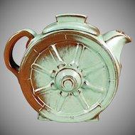 Vintage Frankoma Pottery - Wagon Wheel 6 Cup Teapot - Prairie Green Glaze