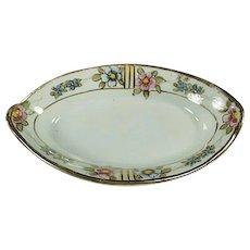 Vintage Salt Dip - Old Nippon Porcelain Salt with Floral Design and Gold Trim