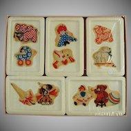 Vintage Soap Bar Set for Children - D-Kal Castile Soap with Original Decals and Box