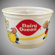 Vintage Dairy Queen Ice Cream Cup – 1960's - Dennis the Menace – Old D.Q. Advertising
