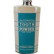 Vintage McConnon Tooth Powder Tin - Old Medical Advertising