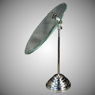Vintage Beveled Glass Adjustable Shoe Stand for Displaying Old Shoes