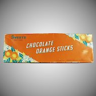Vintage Candy Box - Sweet Candy Co. of Salt Lake City Chocolate Orange Sticks