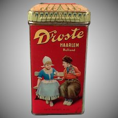 Vintage Cocoa Tin - Old Droste's Dutch Cocoa Tin with Children