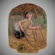 Vintage Chalk Wall Hanging for the Fisherman - Fun Old Fly-Fishing Humor