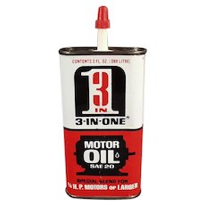 Vintage Oil Tin - Old 3-in-One Motor Oil Tin