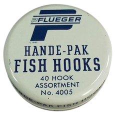 Vintage Fish Hook Tin - Old Pflueger Hande-Pak Fish Hooks