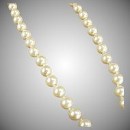 """Vintage Simulated Pearl Necklace - Classic Look - 18"""" Single Strand"""