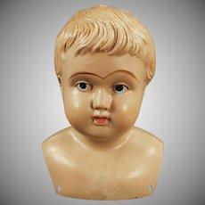 Vintage Celluloid Shoulder Head Doll - Old Celluloid American Mark Indian Logo