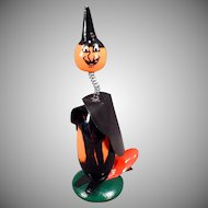 Vintage Halloween Witch Toy Clicker Noise Maker