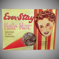 Vintage Hair Net Package – Old Ever-Stay Hair Net, Unopened