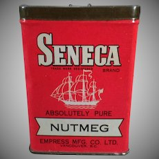 Vintage Spice Tin – Seneca Nutmeg tin by Empress – Old Advertising