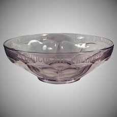 Vintage Sun Purple Glass Bowl - Old Bishop's Chocolate Advertising