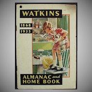 Vintage Watkins 1935 Almanac - Old J.R. Watkins Advertising