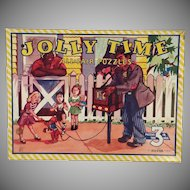 Vintage Picture Puzzles – Jolly Time 3 Puzzle Set with Original Box