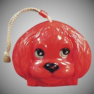 Fun Child's Vintage Purse - Colorful Old Plastic Dog Face Handbag