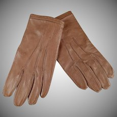 Very Small Vintage Leather Gloves - Child or Large Doll Gloves - Fownes London