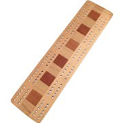 Vintage Cribbage Board - Old Cribbage Board with Multi-Colored Woods