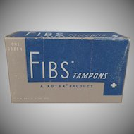 Vintage Kotex Fibs Tampons Box - Old Kimberly-Clark Product