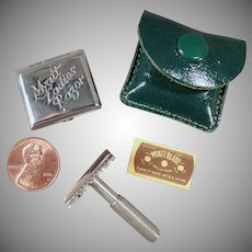 Vintage Myatt Razor Set - Ladies Old Razor with Original Tin & Blade