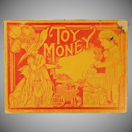 Child's Vintage Toy Money – Old Play Money with Cute Graphics