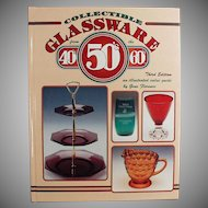 Vintage Reference Book - Collectible Glassware 40s 50s 60s Gene Florence - Handy Old Reference