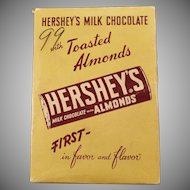 Vintage Candy Box - Old Hershey's Milk Chocolate Candy Bar with Almonds - Empty Box