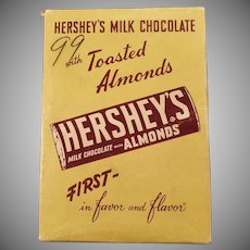 Vintage Hershey's Milk Chocolate Candy Bar with Almonds - Empty Box