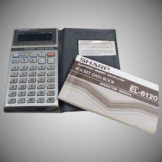 Vintage Electronics - Old Pocket Data Book - Sharp Electronics EL6120